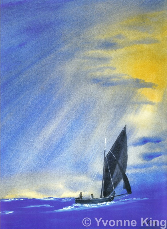 Sailing Fast On The Wind Print