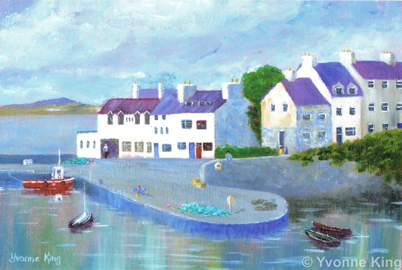 Limited Edition Print Yvonne King Quiet Harbour Roundstone