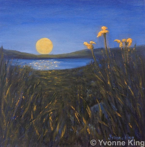 2016 Land08 Moon Oil 12×12 Yvonne King The Moons Secret 3