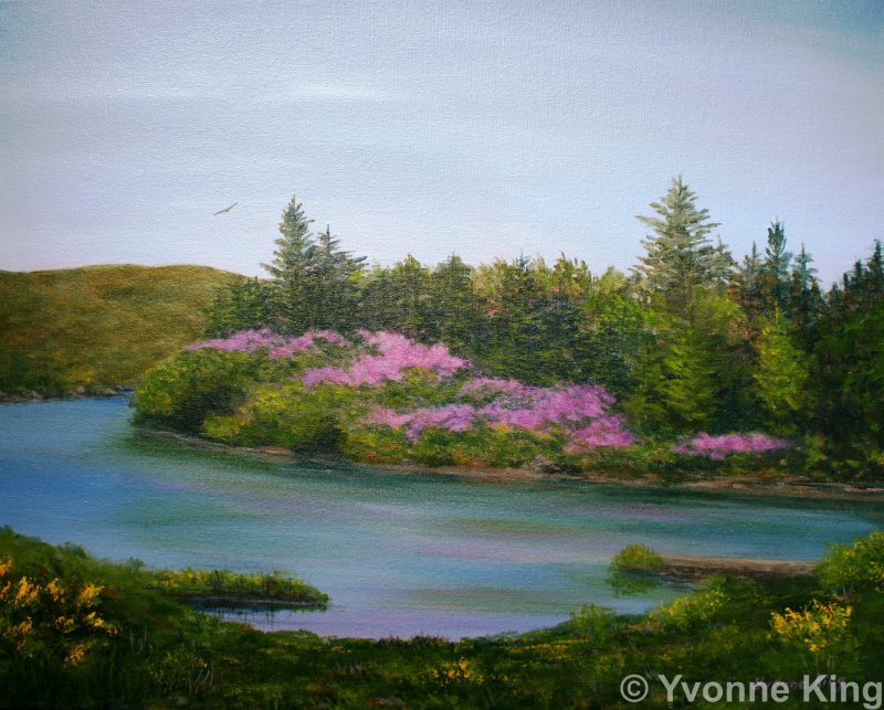 Oil Painting 20×16 Ballynahinch Serenade By Yvonne King 2014 E1466520770476