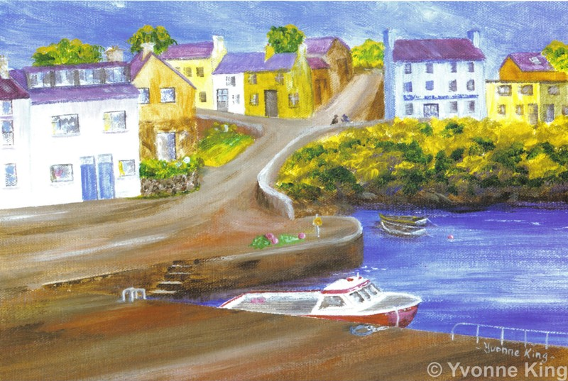 Yklimited Edition Print Yvonne King Old Harbour Roundstone