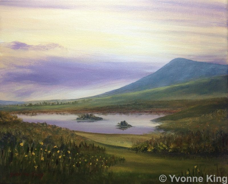 2014 Wm Landscape Eveninigtimeconnemara 12×10 Oil Yvonneking