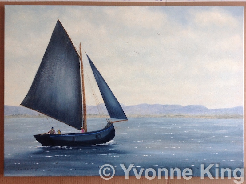 Comm Catch The Wind Sailboat Oil 2015 Yvonne King