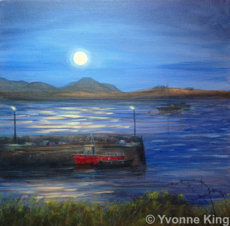 Full Moon Over Roundstone Harbour