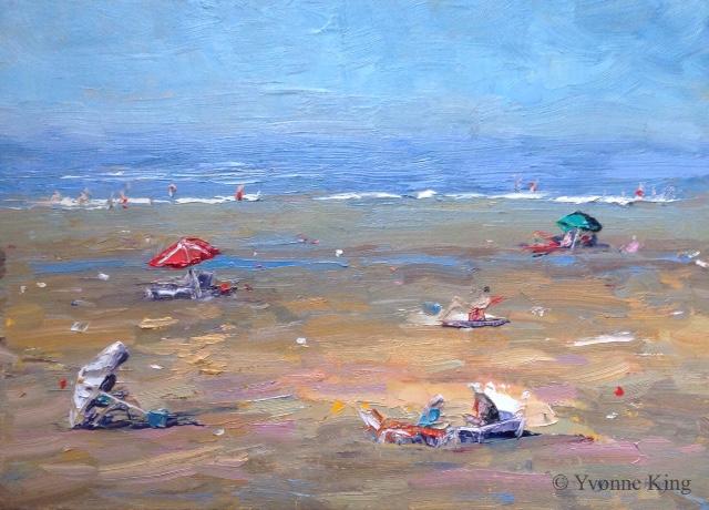 Beach People & Umbrellas