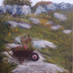Retired Wheelbarrow by Yvonne King